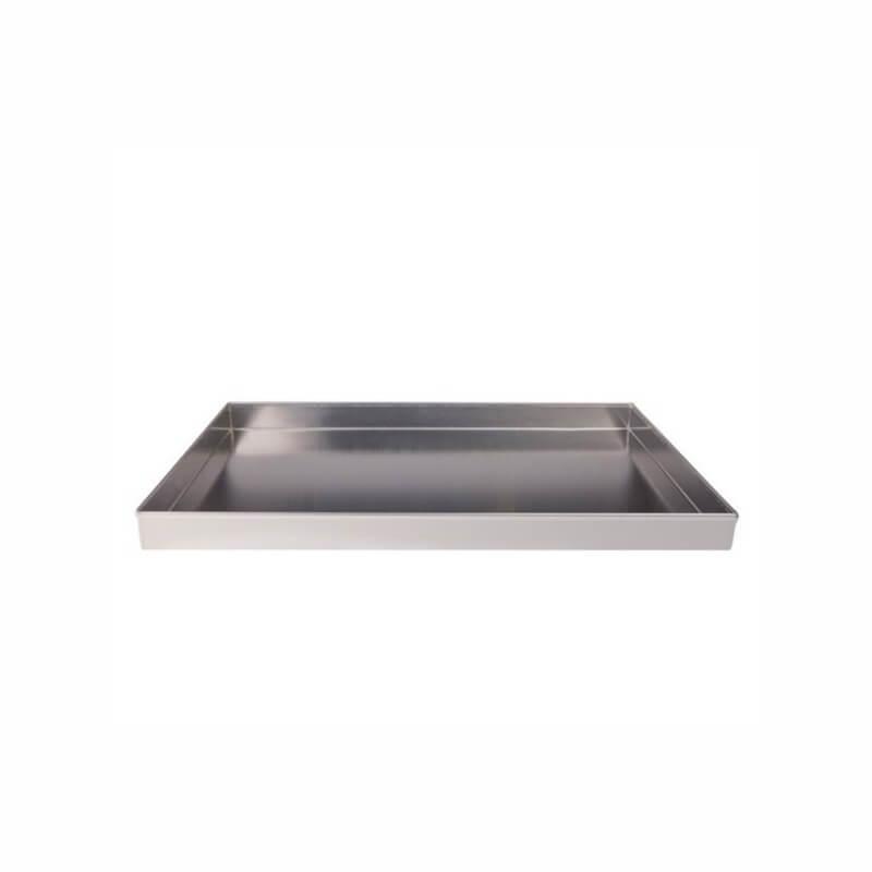 Cm 20 x 30 h 3 Teglia Rettangolare Professionale in Alluminio per Pizza focacce e Pasticceria