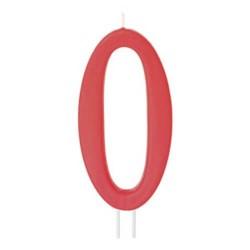 Candela numero 0 rosso - cm 12