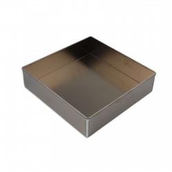 Tortiera quadrata alluminio cm 23 x 23 - h 7