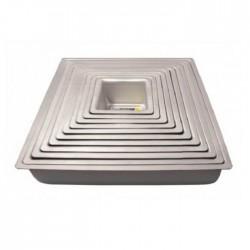Tortiera quadrata cm 25x25 - alluminio
