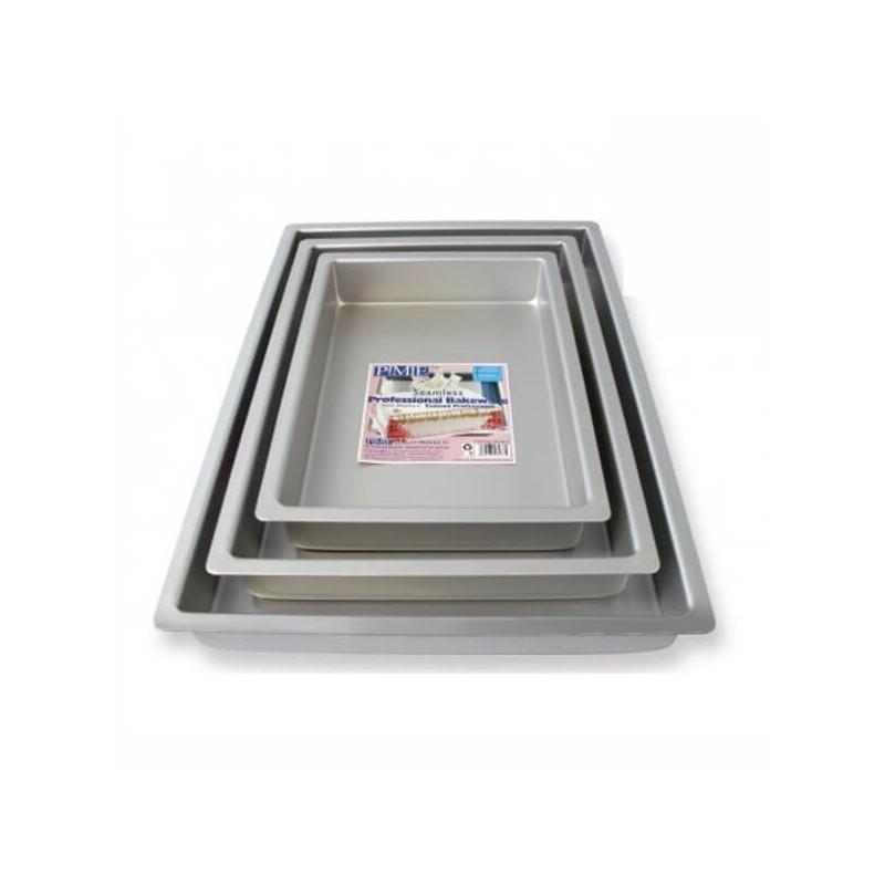 Tortiera rettangolare cm 28x38 - alluminio