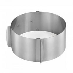 Anello fascia inox regolabile ø fino a cm 30 - h mm 85