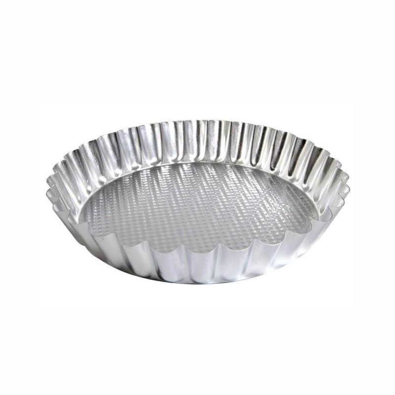 Crostata festonata alta ø cm 22 alluminio
