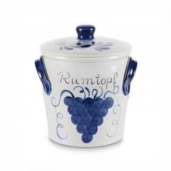 Rumtopf in ceramica grigio blu - lt 5
