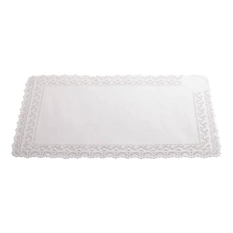 Pizzo bianco sotto torta cm 45X55 - 2 pz