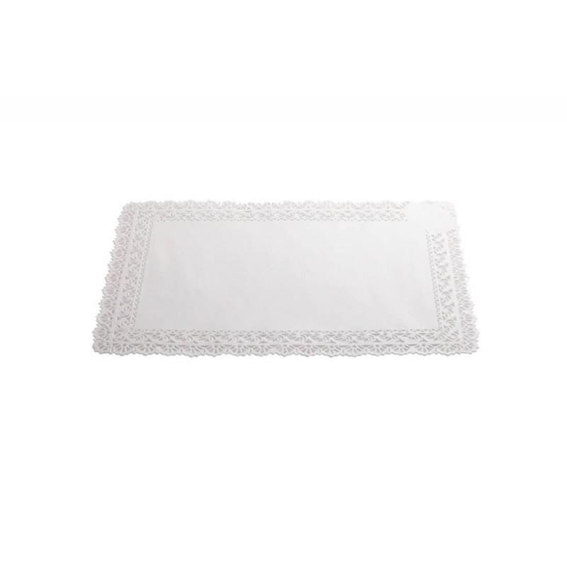 Pizzo bianco sotto torta cm 25X35 - 5 pz