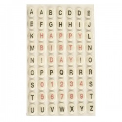 Tasti: lettere & numeri oro