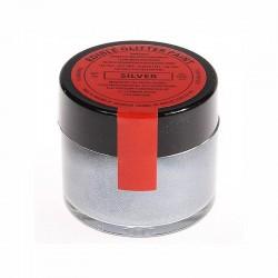 Silver perlescente - glitter alimentare in pasta - 20 gr