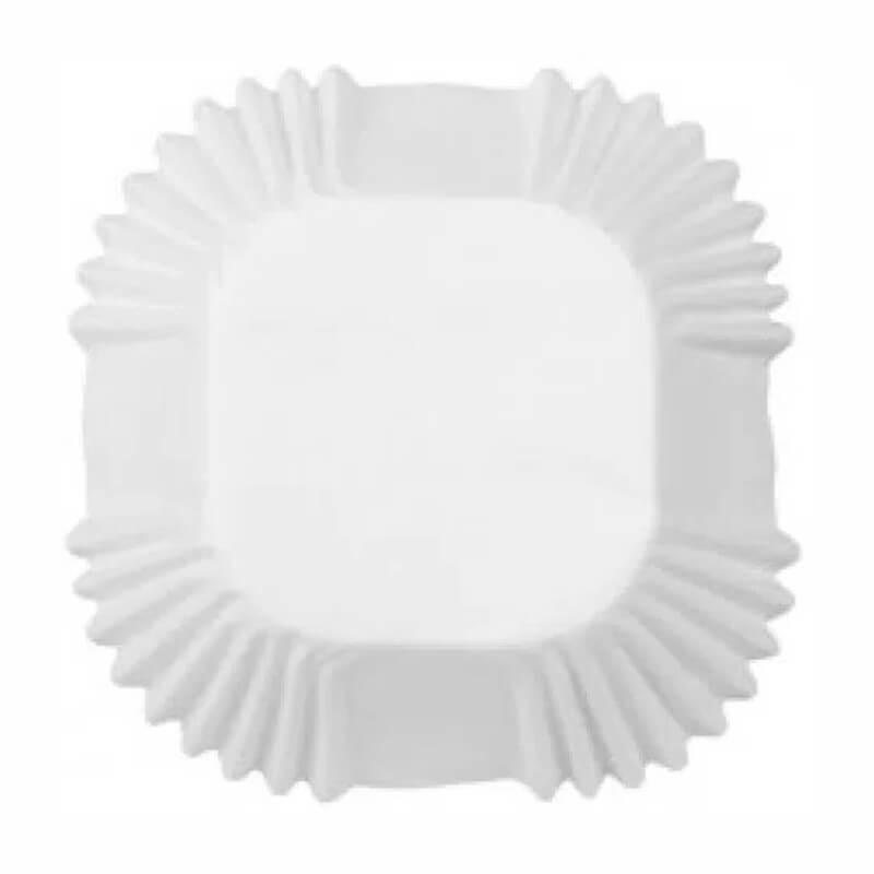 Pirottini quadrati in carta bianca