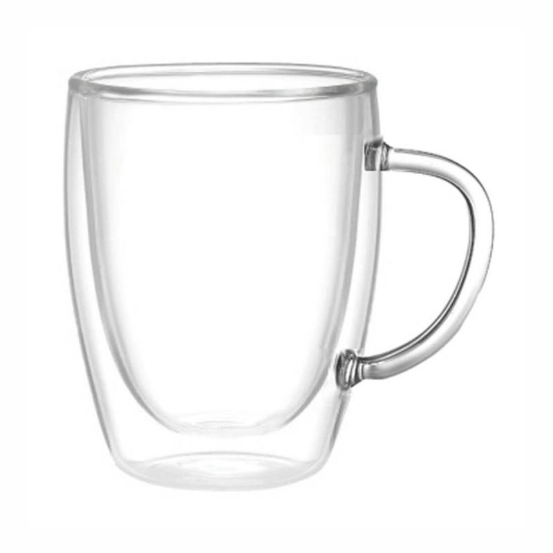 Bicchiere da tè in vetro termico ml 220