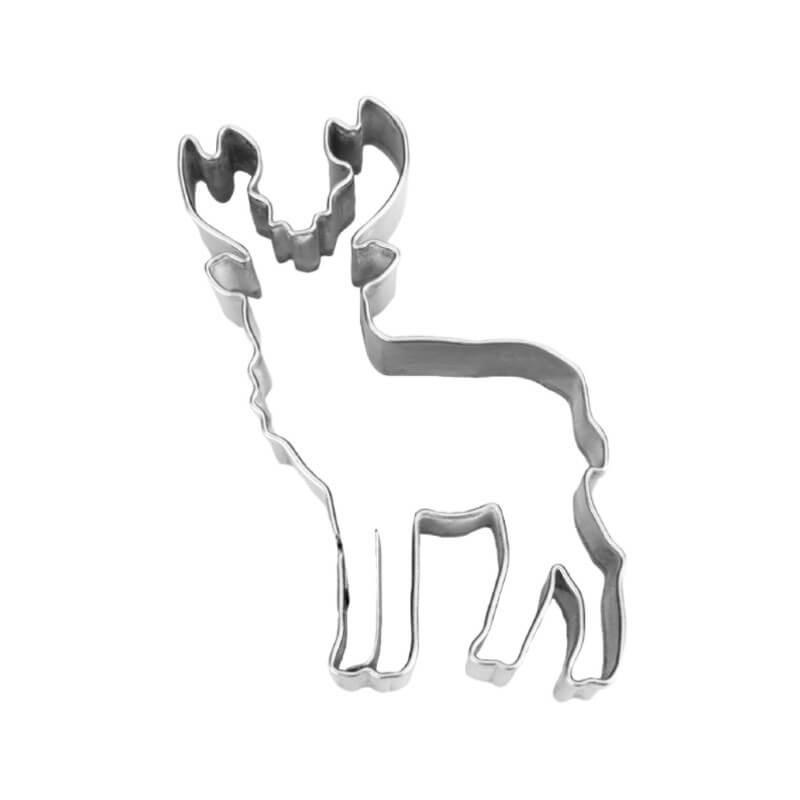 Cervo frontale cm 8 formina tagliapasta inox