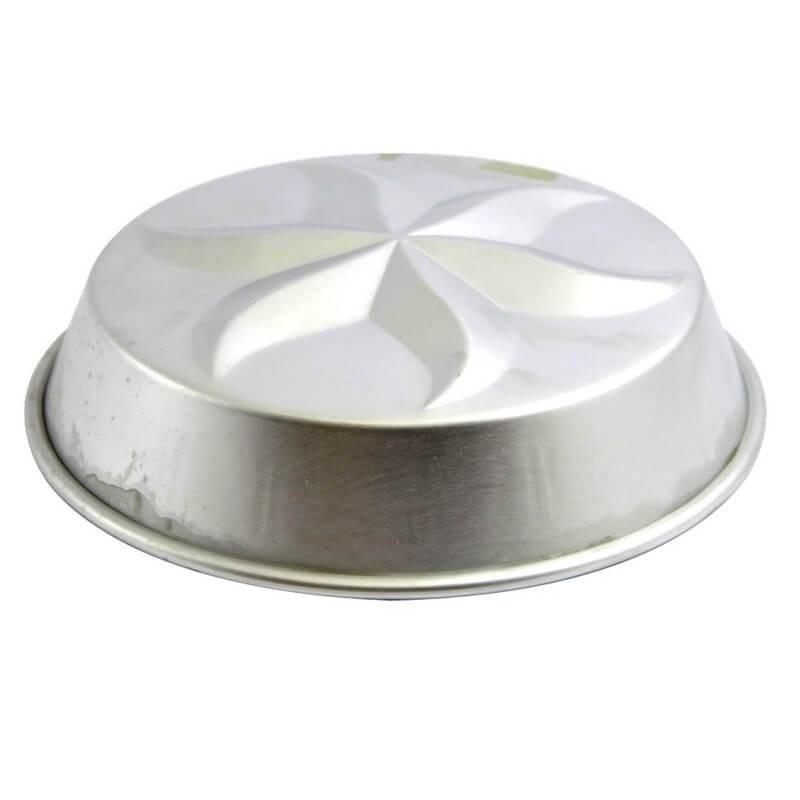 Mini tortiera ø cm 14 fondo stella - alluminio