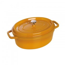 Cocotte ovale in ghisa smaltata senape cm 27 - staub