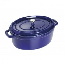 Cocotte ovale in ghisa smaltata blu cm 33 - staub