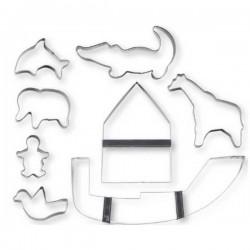 Arca di Noé: set 8 pz. tagliabiscotti inox
