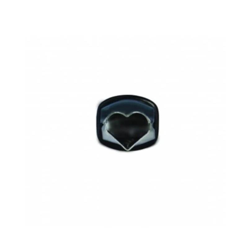 Pinza decoro cuore mm 12