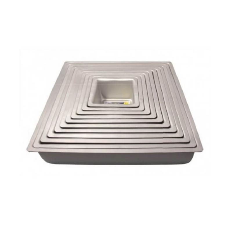 Tortiera quadrata cm 23x23 - alluminio