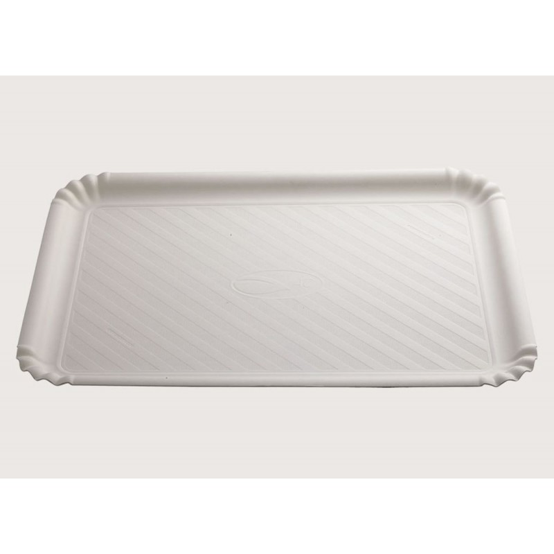 Vassoio bianco ad uso alimentare cm 23 x 32