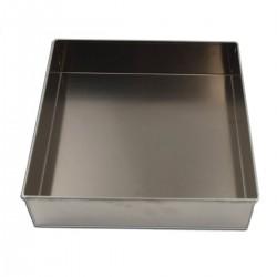 Tortiera quadrata alluminio cm 28 x 28 - h 7