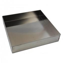 Tortiera quadrata alluminio cm 38 x 38 - h 7