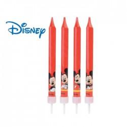 Candeline Topolino Mickey Mouse Disney - 4 pz
