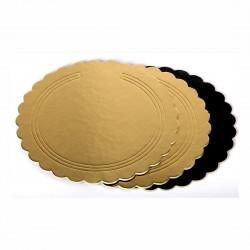 Sotto torta Oro/Nero festonato ø cm 32