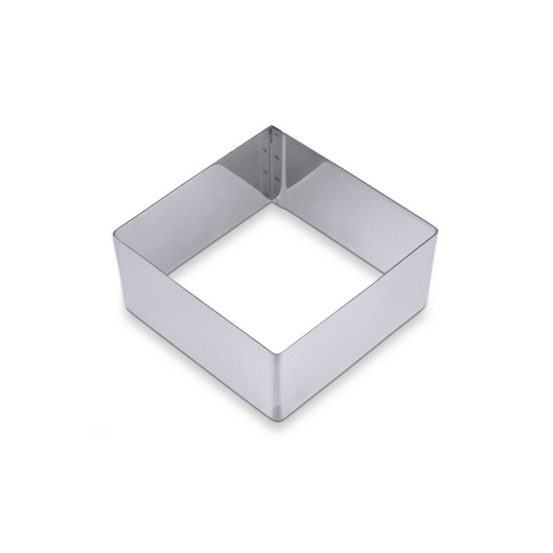 Fascia inox quadrata cm 16 x16 h cm 5