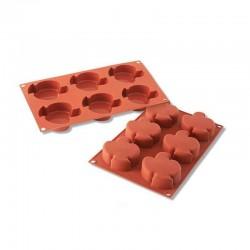 Colombine in silicone mm 91x73 h 28  6 cavità