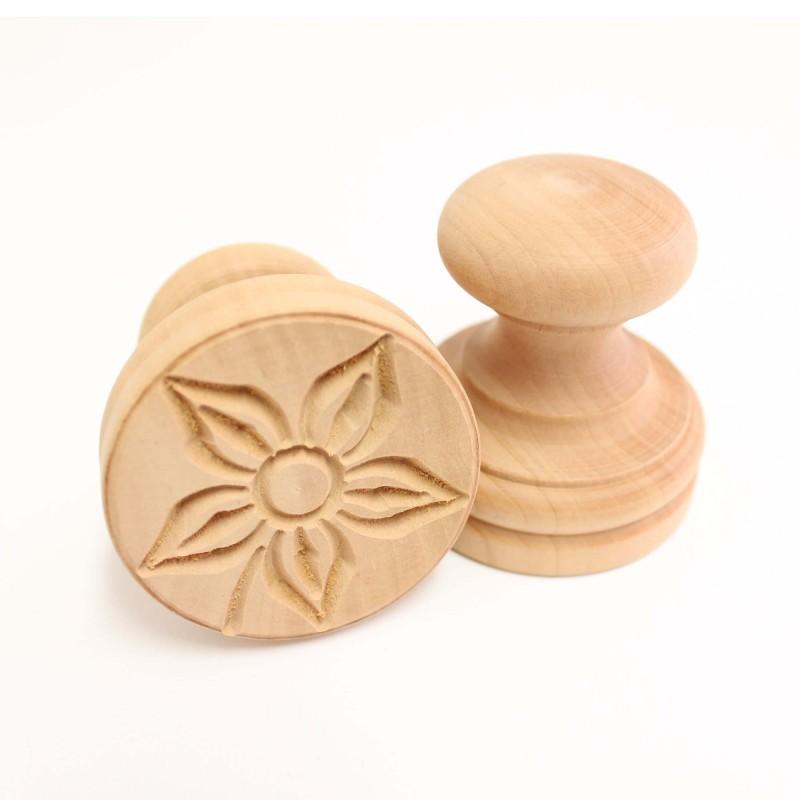 Corzetto in legno di pero - fiore