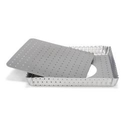 Crostata quadrata perforata fondo sollevabile