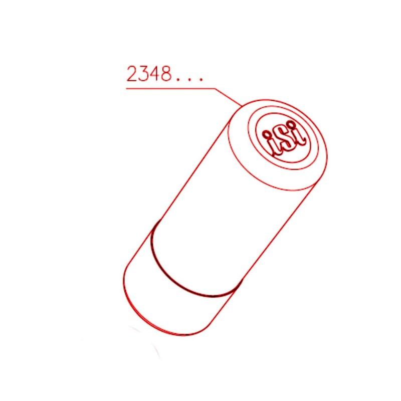 Ricambio carica capsule rosso Sifone isi