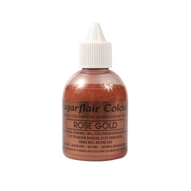 Rose gold glitter alimentare per aerografo 60 ml