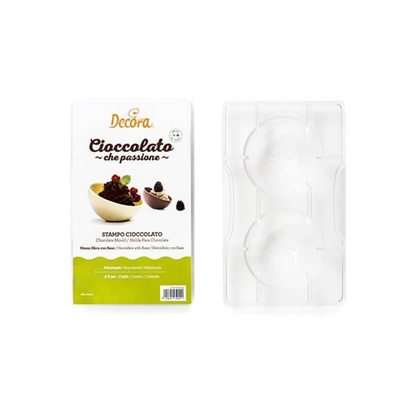 Stampo in PC per cioccolato mezza sfera cm 5