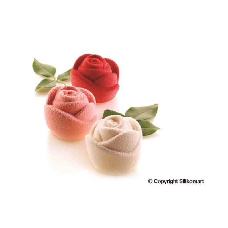 Rose in silicone ø mm 70 h mm 55 - 6 cavità