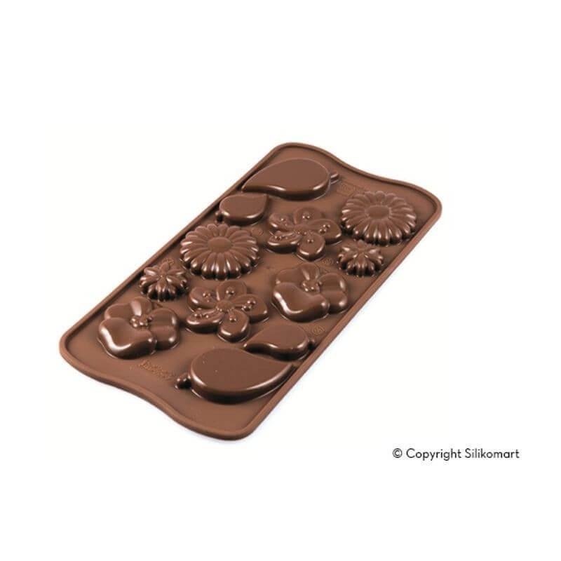 Stampo cioccolato 12 Garden EasyChoc Silikomart