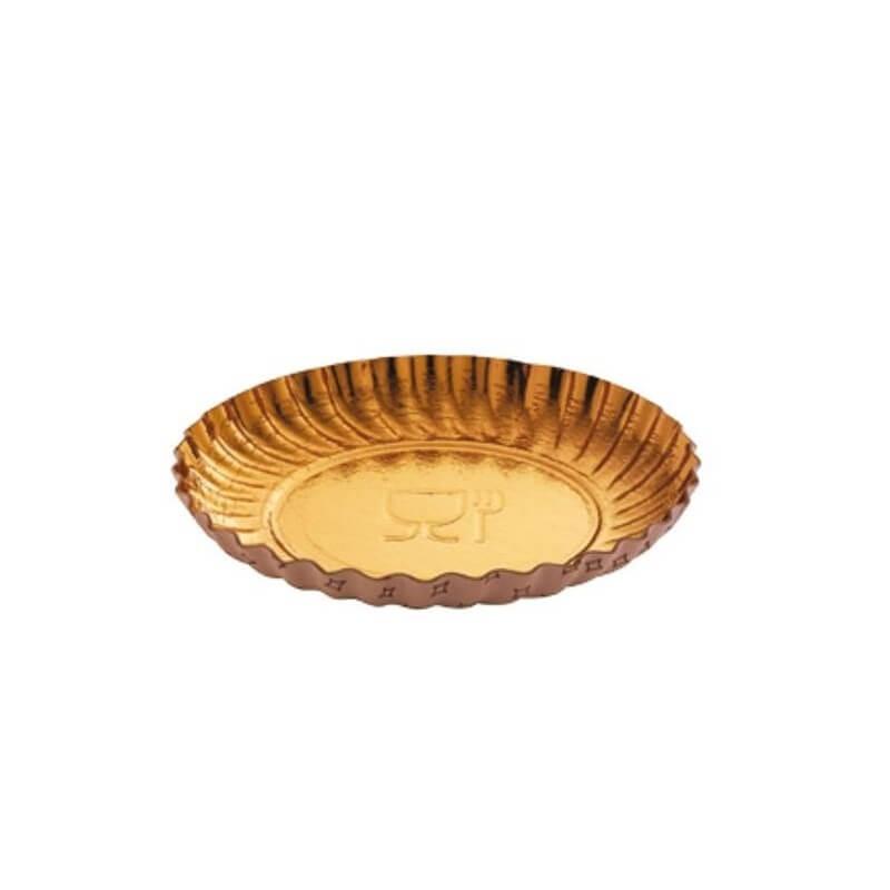 Vassoio oro ø cm 12 - pezzi 10