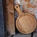 Tagliere tondo in legno di quercia BOSKA