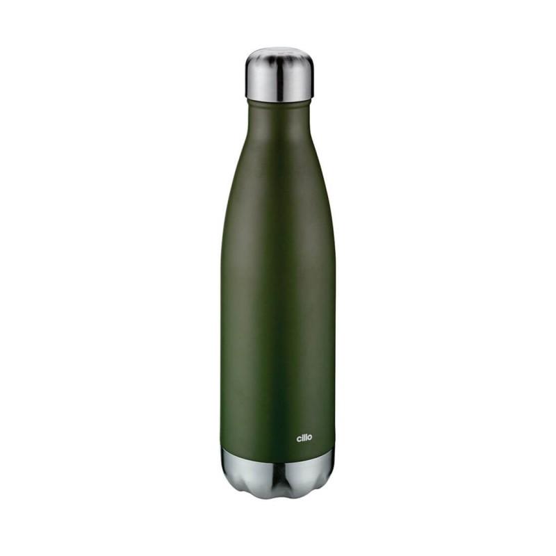Bottiglia termica verde opaco ml 500 cilio