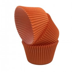 Pirottini muffin e cupcake mm 55 h 42 - arancio - 105 pezzi