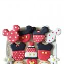 Mickey Mouse Minnie set 3 tagliabiscotti inox