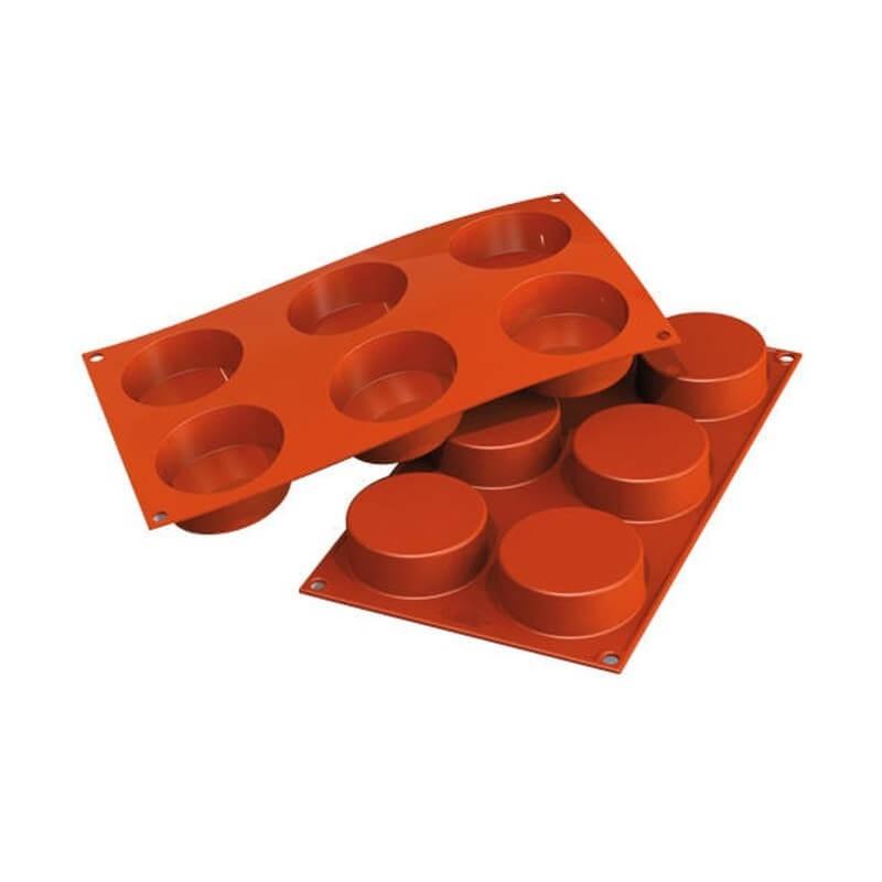 Cilindri bassi in silicone ø mm 70 h 27 - 6 cavità