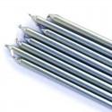 Candele lunghe sottili argento 16 pz PME