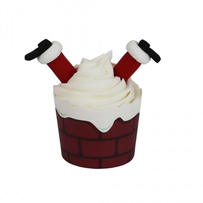 Santa Klaus cupcake kit - 6