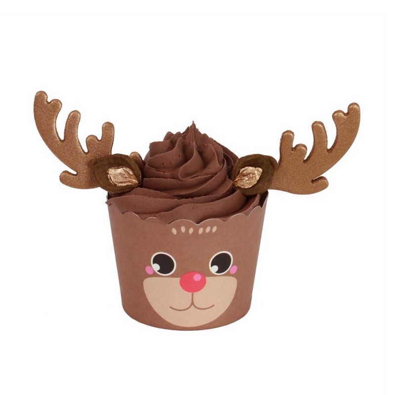 Rudolf cupcake kit - 6