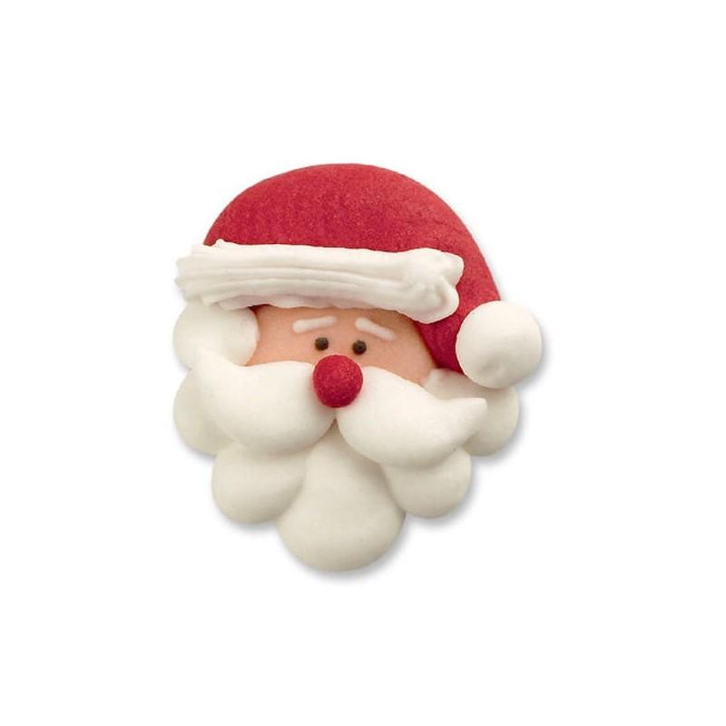 Testa Babbo Natale in zucchero pz 4