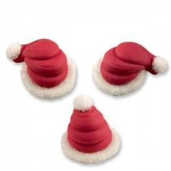 Cappello Babbo Natale 3D in zucchero pz 4