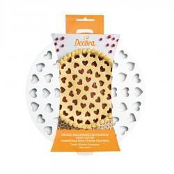 Griglia intaglio decora crostate cuori ø cm 30 - 2 pz