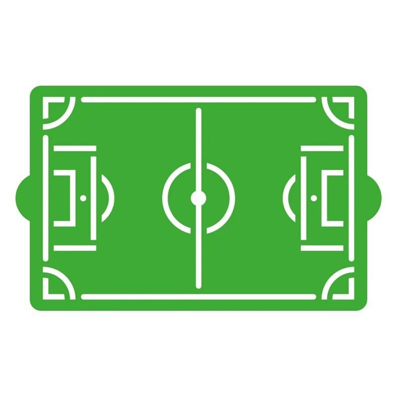 Stencil campo da calcio Decora