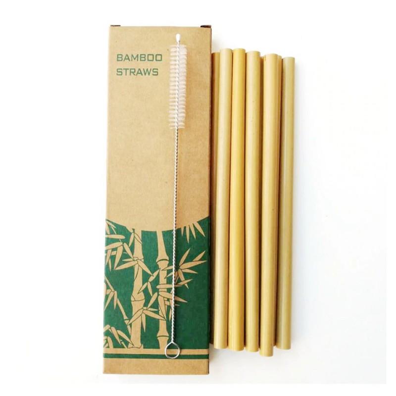 Cannucce in bambù set 10 pz