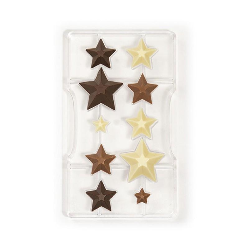 Stampo in PC per cioccolato stelle stars